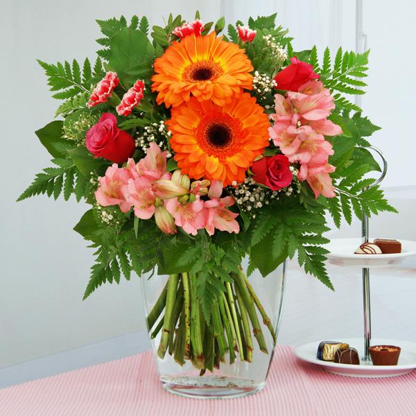 Blumenstrauß Blumenzauber Orange Rosa