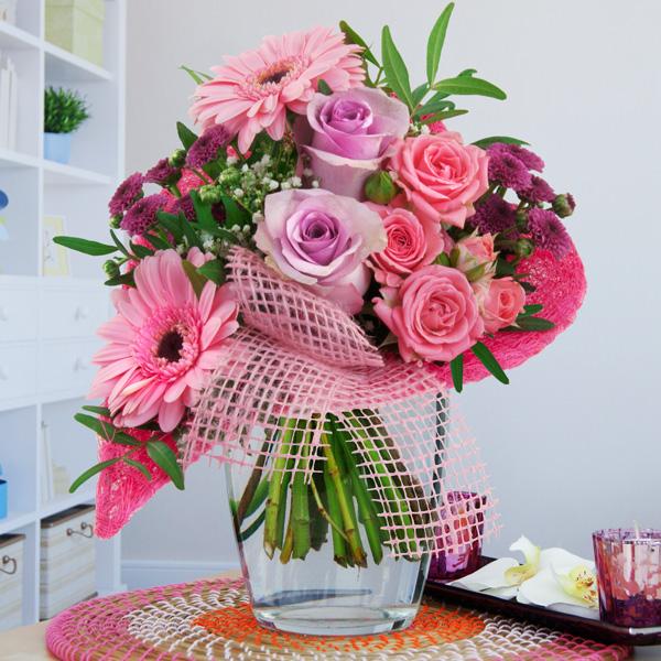 Blumenstrauß Von Herzen Rosa Lila