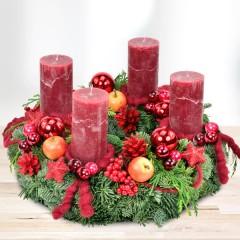 Premium-Adventskranz Merry Christmas (Ø 30cm)