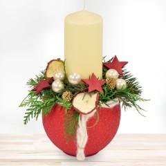 Adventsgesteck Weihnachtsmann