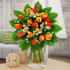 Blumenstrauß Tulpensaison