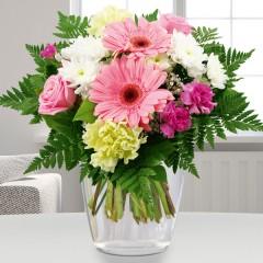Blumenstrauß Blumenfreude Weiß-Rosa