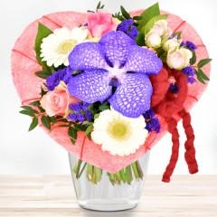 Orchideenherz Rosa-Lila