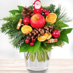 Blumenstrauß Weihnachtsmann
