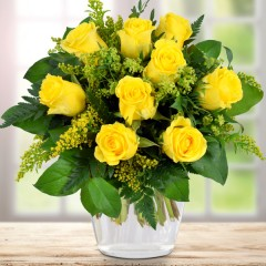 Blumenstrauß Goldene Rosenpracht