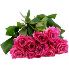 10, 15 oder 20 pinkfarbene Rosen im Bund