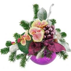 Adventsgesteck Phalaenopsis