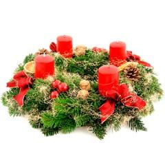 Adventskranz Weihnachten (Ø 30cm)