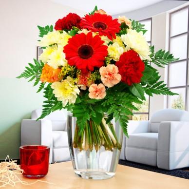 Blumenstrauß Blumenfreude Gelb-Rot