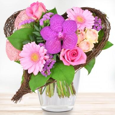 Orchideenherz Rosa-Pink
