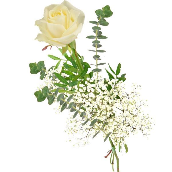 Einzelne weiße Rose - Einzelne Rosen - Nach Sorte - Blumensträuße ...