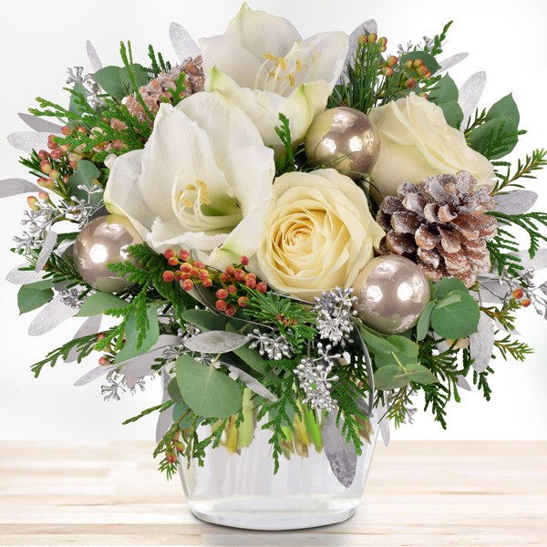 Blumenstrauss Weisse Weihnachten Blumenversand Bluvesa De Blumen
