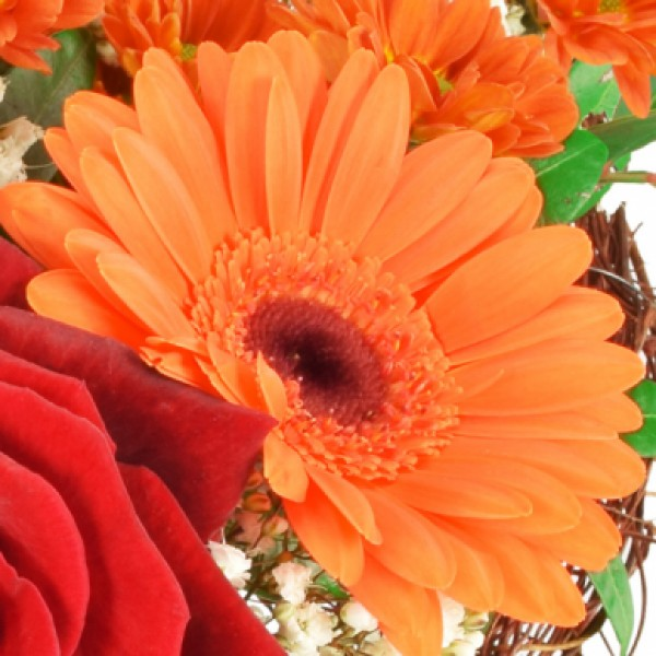 Blumenstrauß Von Herzen OrangeRot  Valentinstagssträuße