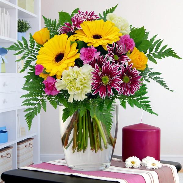 Blumenstrauß Blumenfreude Gelb-Lila - gelb - Nach Farbe ...