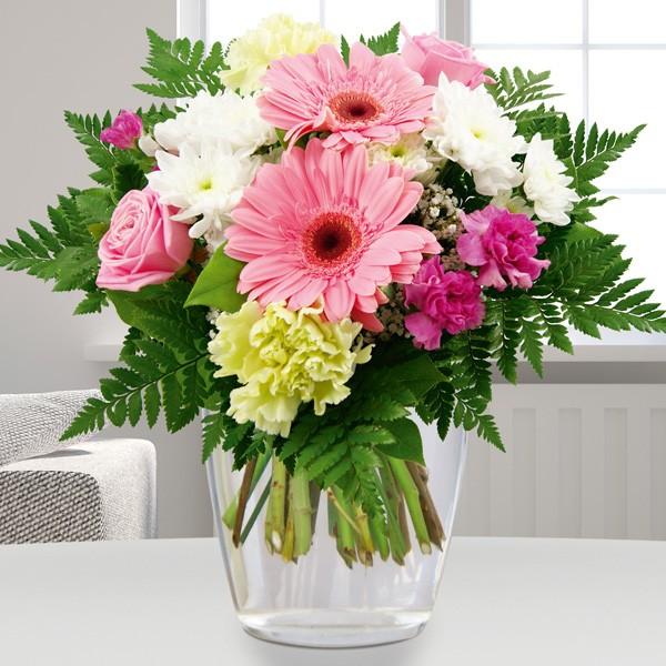 Blumenstrauss Blumenfreude Weiss Rosa Blumenversand Bluvesa De