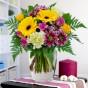 Blumenstrauß Blumenfreude Gelb-Lila